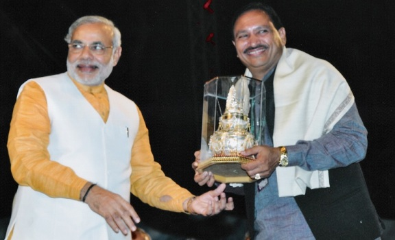 Gujarat CM Narendra Modi and Mr.C K Patel